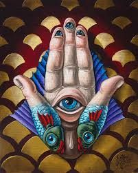 op#2929 Hamsa Painting by Victor Molev Hamsa Painting, Artist Signatures, Canvas Board, Hamsa Hand, New Opportunities, New Perspective, Fine Art America, Oil On Canvas, Original Paintings