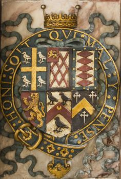 Armorial from the Wriothesley monument at St Peter's Church, Titchfield, Hampshire