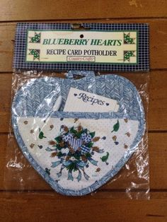A personal favorite from my Etsy shop https://www.etsy.com/listing/249194007/recipe-card-potholder-country-crafts