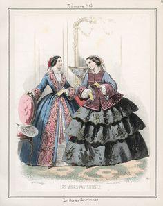 Les Modes Parisiennes February 1856 LAPL