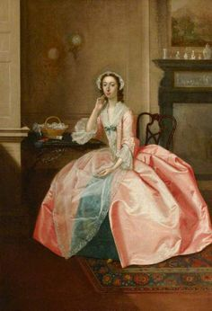 Arthur Devis, portrait of Lucy Watson, Mrs Thornton, at Uppark. ©National Trust, image supplied by the Public Catalogue Foundationk