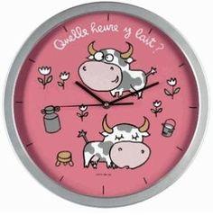 """Horloge """"Quelle heure y lait ?"""""""