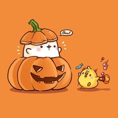 Peek-A-Boo who r u i wish you happy (: Cute Halloween Drawings, Kawaii Halloween, Halloween Art, Fall Wallpaper, Kawaii Wallpaper, Halloween Wallpaper, Chibi Kawaii, Kawaii Art, Kawaii Drawings