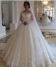 Plus Size Wedding Dresses Robe De Mariee Long Sleeve Ball Gown Gorgeous Bridal Gowns 2019 Sweep Train Country - Brautkleider Ballkleid - brautkleid Long Wedding Dresses, Country Wedding Dresses, Long Sleeve Wedding, Princess Wedding Dresses, Bridal Dresses, Wedding Ball Gowns, Princess Bridal, Bridesmaid Dresses, Beautiful Wedding Gowns