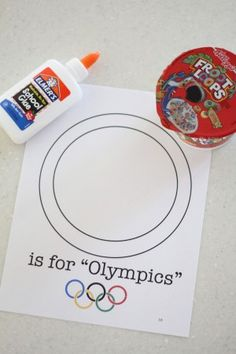 Froot Loop Olympic Craft. Printable. Review letter O. Review colors (Fruit Loops) Glue them to the capital O (around/inbetween the lines for fine motor skills)