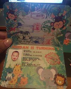 Invitación de pasaporte Safari por BellaLinaDesignShop en Etsy