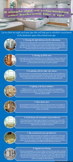 Here is an infographic designed by Kenwood that basically explaines some tips on refurbishing your bathroom like a spa.