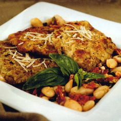 Breaded Veal Scallopini @keyingredient #quick #chicken #italian #tomatoes #bread