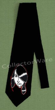 AALIYAH cartoon CUSTOM ART UNIQUE TIE   Each necktie is individually hand-painted, a true and unique work of art indeed!  To order this, or design your own custom tie, please contact us at info@collectorware.com, or visit http://www.collectorware.com/neckties-aaliyah.htm