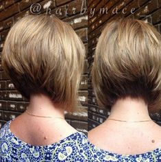Cute short stacked bob hair style by kenya
