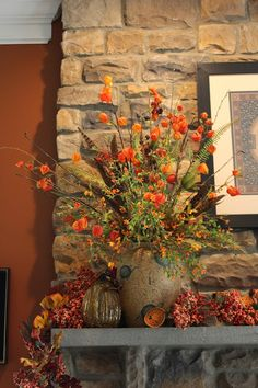 Designs by Pinky: Fall on the Mantle and Hearth