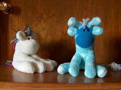 sock giraffe and unicorn