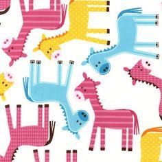 Urban Zoologie by Ann Kelle Donkeys Spring  by CottonBlossomFarm, $9.25