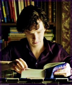 """""""Sherlock Holmes featuring Oxford Dictionary in the Purple Shirt."""" - Yes, life can be beautiful :)"""