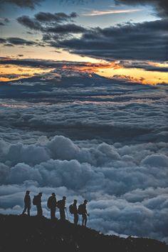 """visualechoess: """"Sunrise on Kilimanjaro - by: Hudson Henry """""""