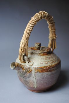 Clay Teapot Wood Fired by JohnMcCoyPottery on Etsy, $95.00