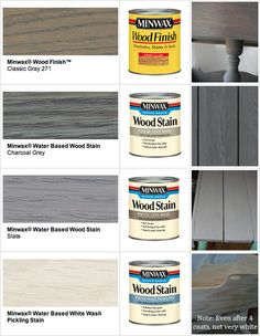 Pinner said: For the love! What would I do without Pinterest?? STAIN : Minwax Gray Wood Stains |