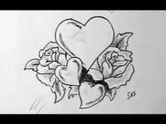 Image result for drawings of flowers and hearts