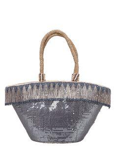 4a79415b88e4 Uzurii Beach Bag Medium Silver -