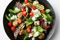 Haloumi adds rich, salty flavour to the lamb and binds the meatballs for this warm salad recipe.