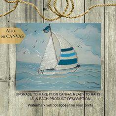 Take A Catamaran Sailing Charter – Room Enough To Move Around Nautical Wall Decor, Nautical Nursery, Nursery Art, Nursery Decor, Baby Boy Rooms, Baby Boy Nurseries, Sailboat Art, Boys Room Decor, Art Prints