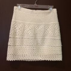 Urban Outfitters white crochet skirt. Medium. Good condition. Minor pilling. Runs small. silence + noise Skirts Mini