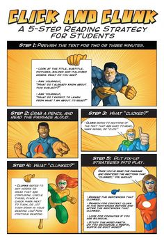A 5 step reading strategy for students | infographics student