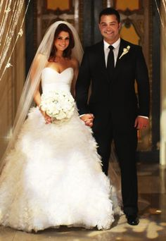 Joanna Garcia & Nick Swisher - Monique Lhuillier