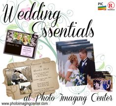 Get your wedding essentials at Photo Imaging Center! From Save the Dates to Thank you's, we have your covered. www.photoimagingcenter.com