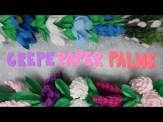 Crepe Paper Flowers, The Creator, Crafts, Youtube, Palmas, Manualidades, Handmade Crafts, Craft, Arts And Crafts