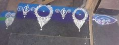 Border rangoli designs are usually made at the entrance of pooja room or the house. People also make border rangoli along the exterior wall of the house. Rangoli Designs Photos, Beautiful Rangoli Designs, Pooja Rooms, Indian Festivals, Photo Galleries, Gallery, Awesome, Roof Rack