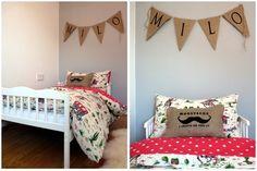 Cowboy bedroom ideas... Burlap mustache pillow so stinkin' cute!