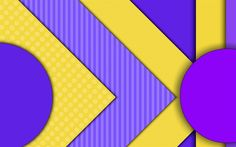 Download wallpapers strips, violet lines, yellow lines, material design, geometry, abstract material, art