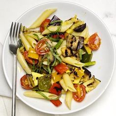 Penne with Mixed Grilled Vegetables Recipe | MyRecipes.com Mobile