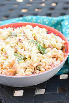 Pasta Salad with Creamy Parmesan Dressing