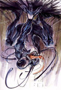 Sketch Venom by Cinar - From Pencil To Paper, Inspiring Comic Book Art Venom Comics, Marvel Venom, Marvel Villains, Marvel Comics Art, Marvel Heroes, Comic Superheroes, Marvel Vs, Comic Book Characters, Marvel Characters