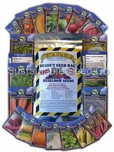Bug Out Seed Bag-Hmmm had not thought about this. Would probably be a good idea to keep in the bug out bag.
