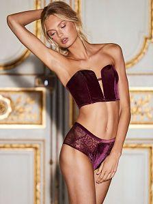 92fcd3fa96 Dream Angels Velvet High-waist Cheeky Panty  Ruby Wine (3 of 3)