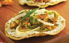 Receta de tostadas con flor de calabaza y requesón