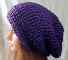 Echo Hat  Crocheted Spiral Ribbed Slouchy Hat by YaxumiKaroDesings,