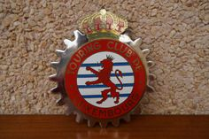 Vintage-Luxemburgo-car-club-badge-Touring-club-de-luxembourg-1960