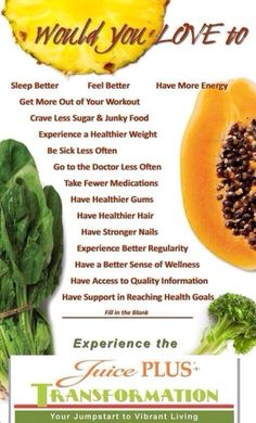 Juice Plus+ #hlr #healthiswealth #ownyourownlife  www.fgerwitz.juiceplus.com