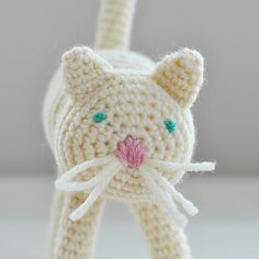 Cream Cat Waldorf Toy Crochet Kitty by SnowfallStudio on Etsy