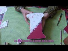DIY: Letras de madera con decoupage y decoradas - YouTube