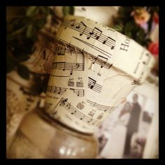 Decorating Flower Pots.... I am getting so many ideas for sheet music right now....
