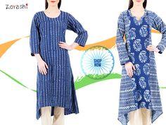 Indulge in our Indigo range with Zoyashi! #Indigo #Kurtas #IndianApparel #RepublicDay #HandmadeWithLove #MadeInIndia #Kurtas #Apparel #GetTheLook #Outfit