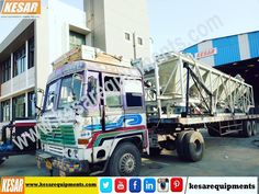 Our Company Dispatched #Asphalt_Drum_Mix_Type_Hot_Mix Plant(Model DM-50 Capacity 60/90 T/H) With #Wet_Mix_Macadam Plant (Dual Application) and Bitumen Emulsion Sprayer With Compressor For Road Dust Cleaning At #Assam, #India