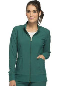 Cherokee Scrubs, Scrub Jackets, Workout Warm Up, Princess Seam, Signature Logo, Hunter Green, Welt Pocket, Sporty, Zip
