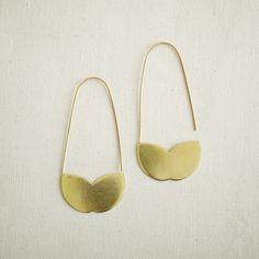Lovely Gold Leaf Earrings
