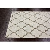 Found it at Wayfair - Hacienda Park Avenue Trellis Nickel Geometric Area Rug